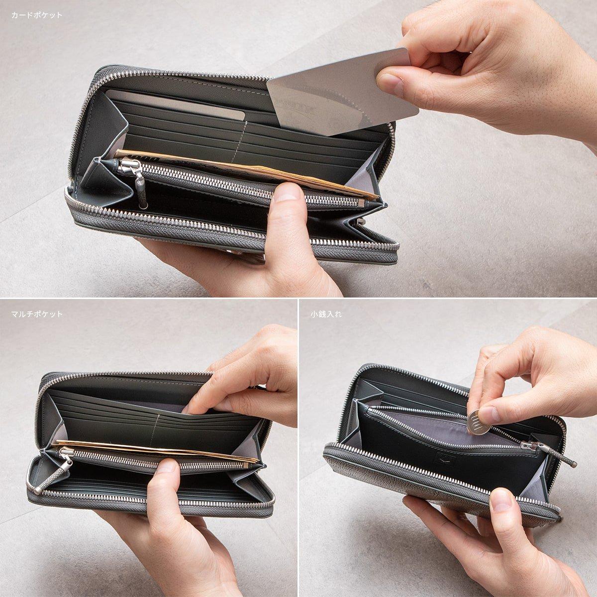 Atelier AKNAS(アトリエ アクナス)ラウンドジップ長財布 使用イメージ