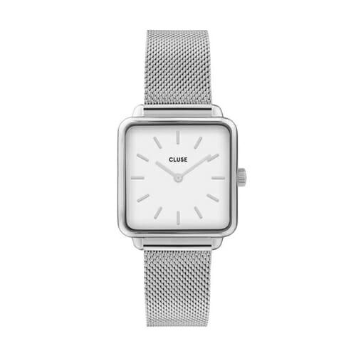 ラ・テトラゴン シルバー メッシュ ホワイト 28.5mm - CW0101207003 CLUSE クルース レディース腕時計