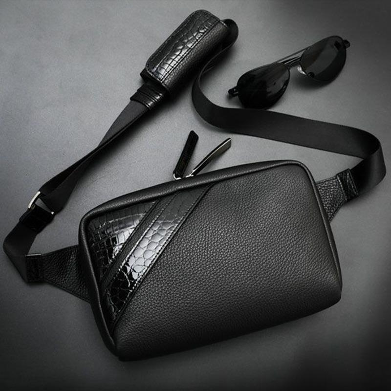 池田工芸 Crocodile Body Bag Voyager Dx(クロコダイル ボディバッグ デラックス)