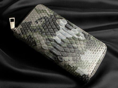 パイソン フルオープンラウンドジップ長財布 LE'SAC(レ・ザック) Mens Leather Store メンズレザーストア