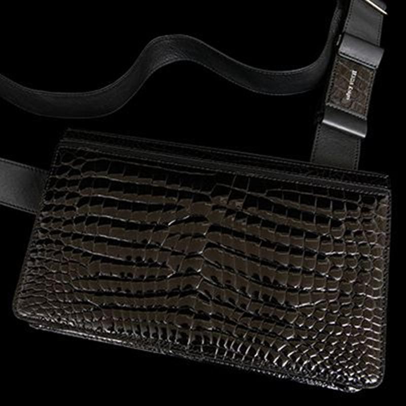 池田工芸 All Crocodile Messeger Bag(オールクロコダイルメッセンジャーバッグ)C5105-2