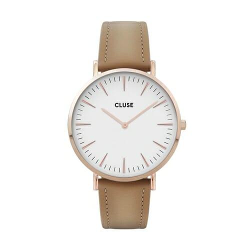 ボーホーシックレザー ローズゴールド ホワイト ヘーゼルナッツ 38mm - CW0101201015 CLUSE クルース レディース腕時計