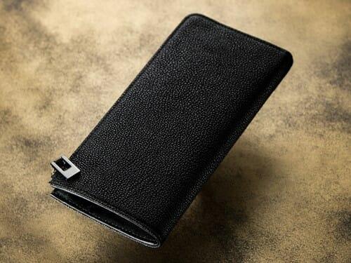黒桟革 L字ジップ長財布 camonde(カモンド) Mens Leather Store メンズレザーストア