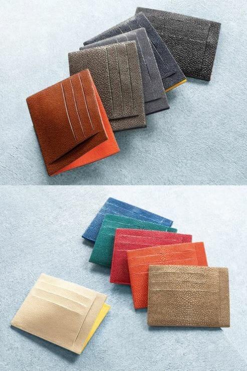 Atelier AKNAS(アトリエ アクナス)ミニ財布 スリット札ばさみ カラーバリエーション 11色