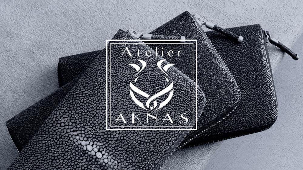 Atelier AKNAS(アトリエ アクナス)ガルーシャ ラウンドジップ長財布