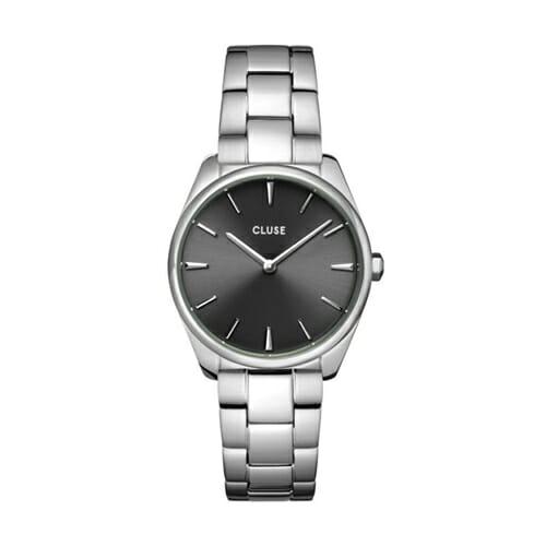 フェローチェ ペティット ダークグレースティール シルバー 31.5mm - CW11202 CLUSE クルース レディース腕時計