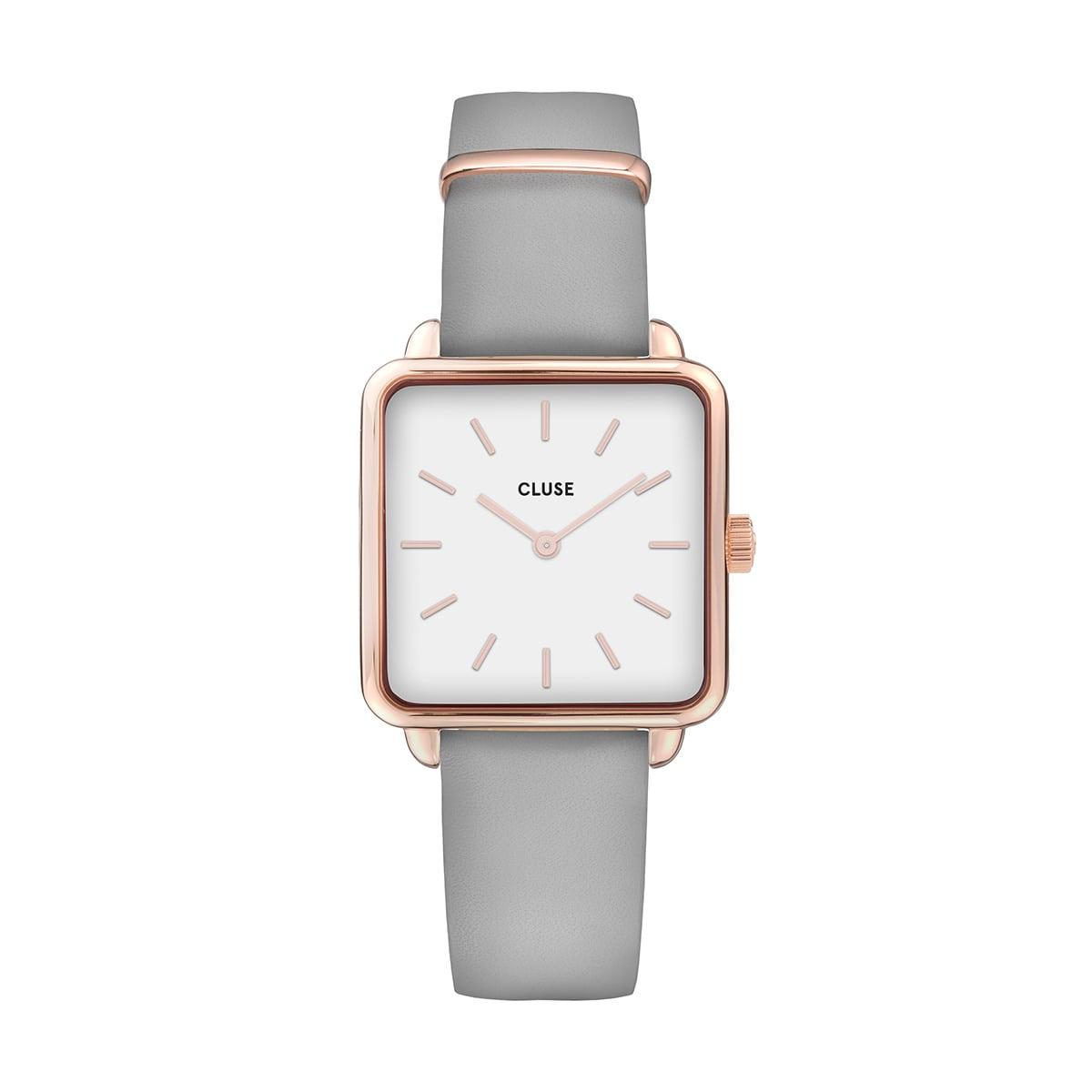 鈴木友菜 着用 28.5mm - CW0101207004 ラ・テトラゴン ローズゴールド ホワイト グレー CLUSE クルース 腕時計
