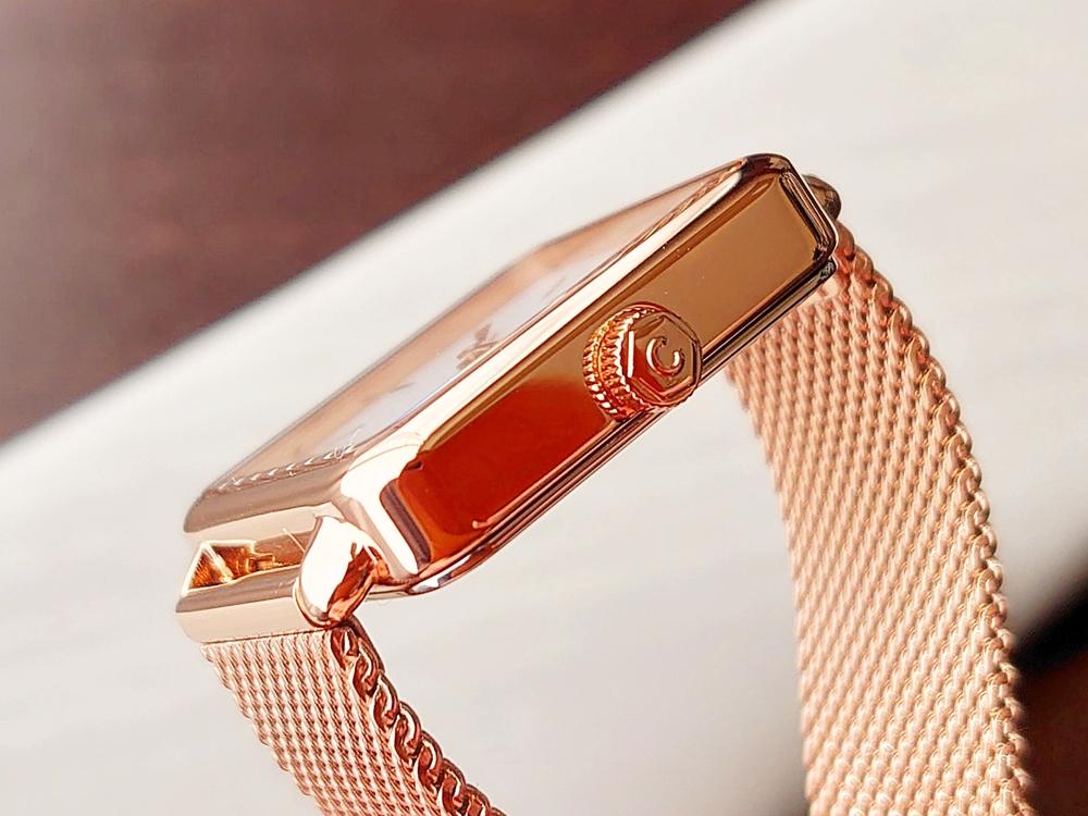 CLUSE クルース 腕時計 ラ・テトラゴン ローズゴールド ステンレスメッシュ ストラップ ベルト リューズ