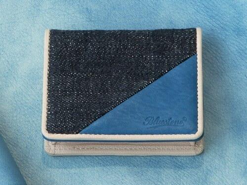 Sデニム x スクモレザー コインケース Bluestone(ブルーストーン) Mens Leather Store メンズレザーストア