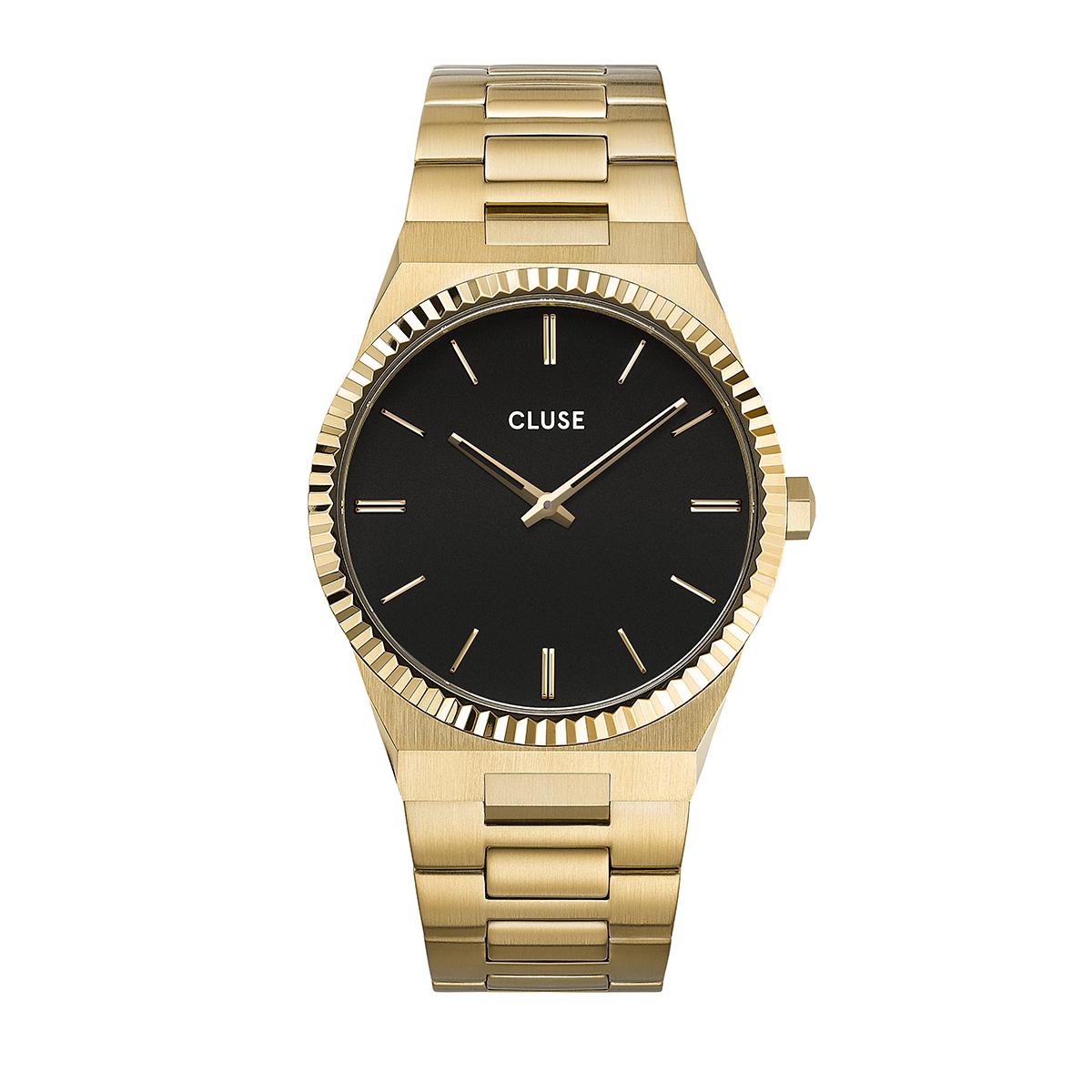 滝沢カレン 着用 40mm - CW0101503007 ヴィグルー40 Hリンク ゴールド ブラック ゴールド CLUSE クルース 腕時計