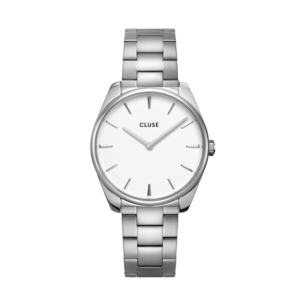 滝沢カレン 着用 36mm - CW0101212003 フェローチェ 3リンク シルバー ホワイト シルバー CLUSE クルース 腕時計