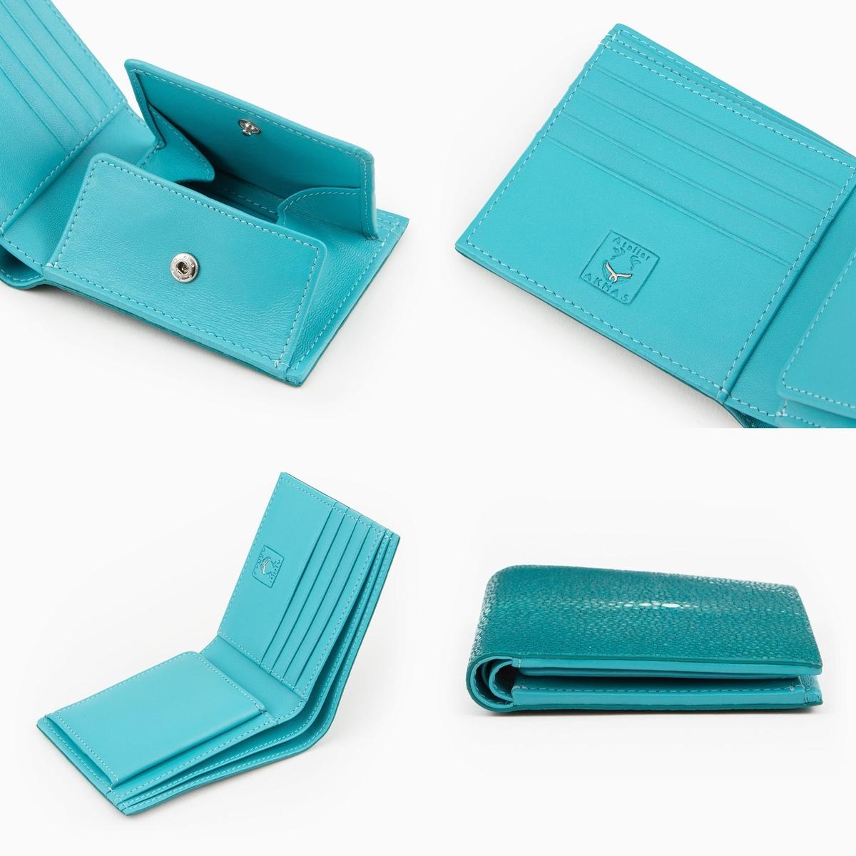Atelier AKNAS(アトリエ アクナス)二つ折り財布 外装 内装
