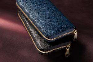 CIMABUE(チマブエ) 漆塗り ラウンドジップ長財布
