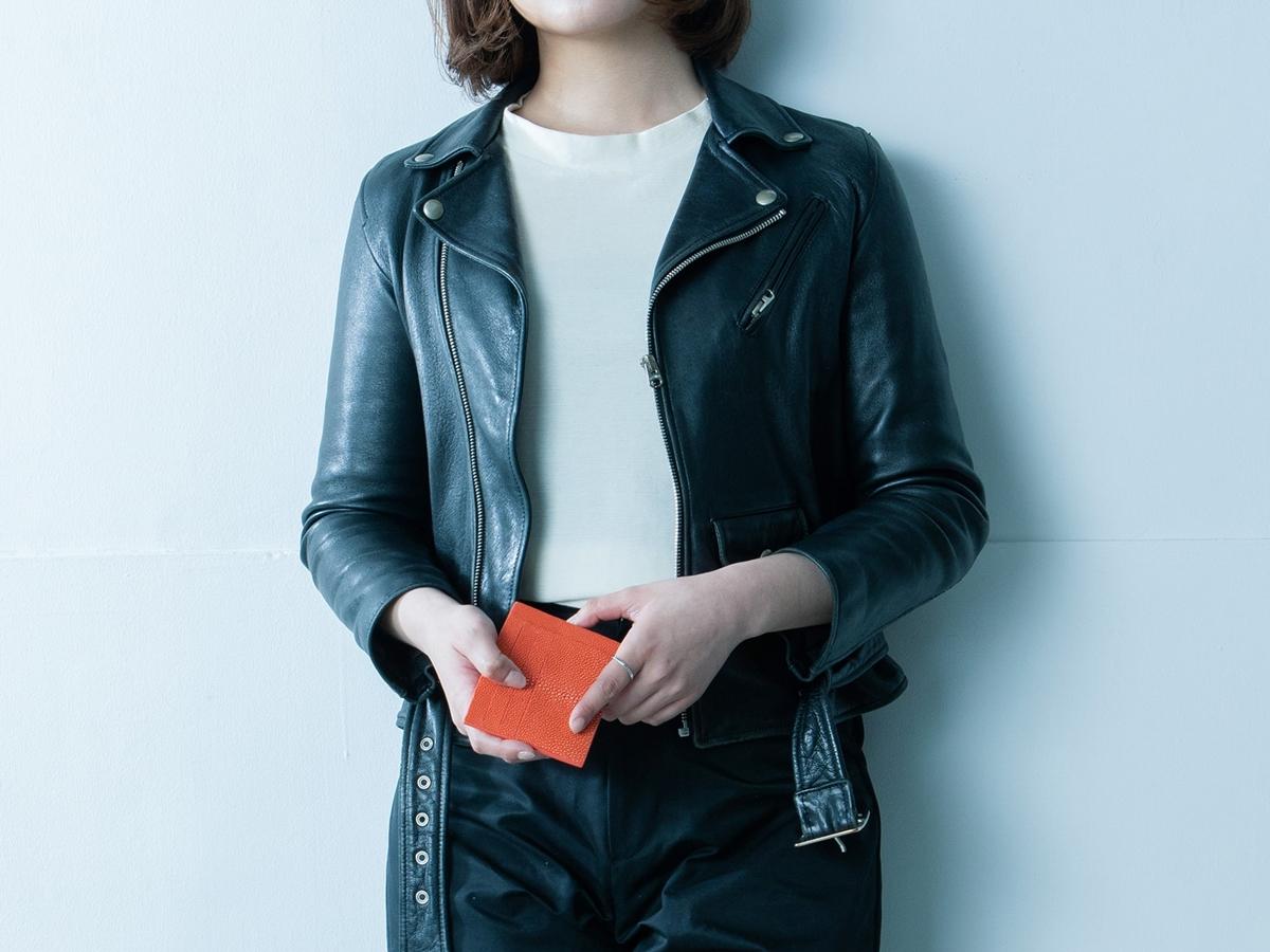 Atelier AKNAS(アトリエ アクナス)ミニ財布 スリット札ばさみ レディース