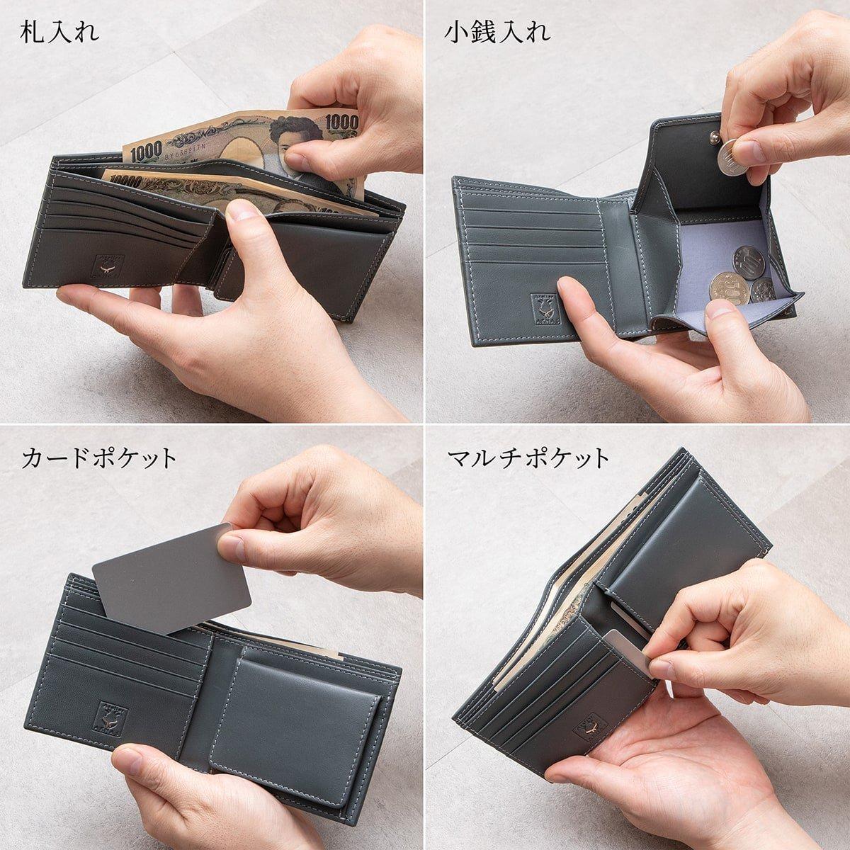 Atelier AKNAS(アトリエ アクナス)二つ折り財布 使用イメージ
