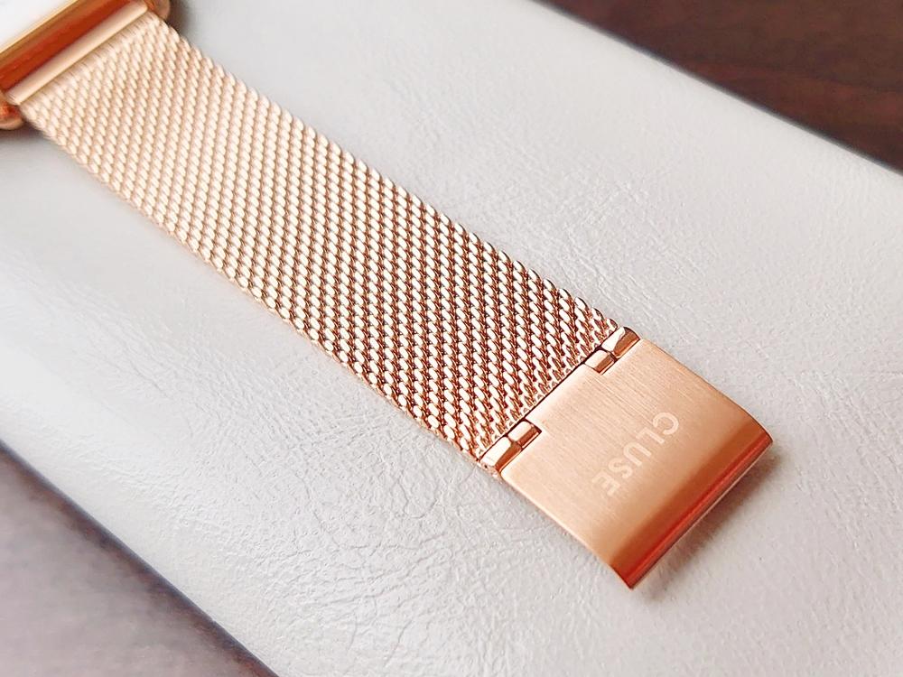 CLUSE クルース 腕時計 ローズゴールド ステンレスメッシュ ストラップ ベルト バックル 刻印