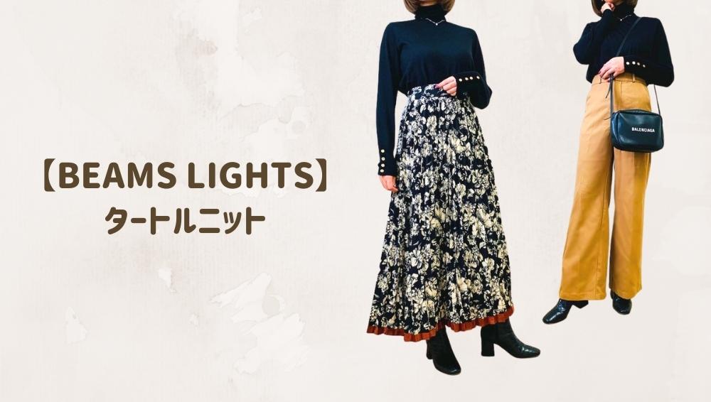 BEAMS LIGHTS タートルニット3