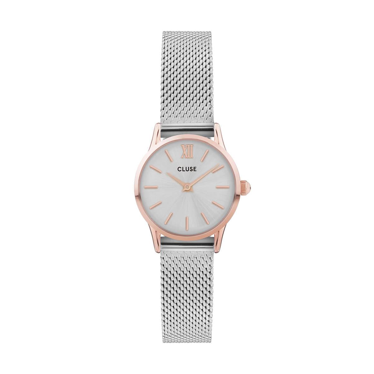 浜辺美波 着用 24mm - CW0101206004 ラ・ヴェデット メッシュ ローズゴールド シルバー シルバー CLUSE クルース 腕時計