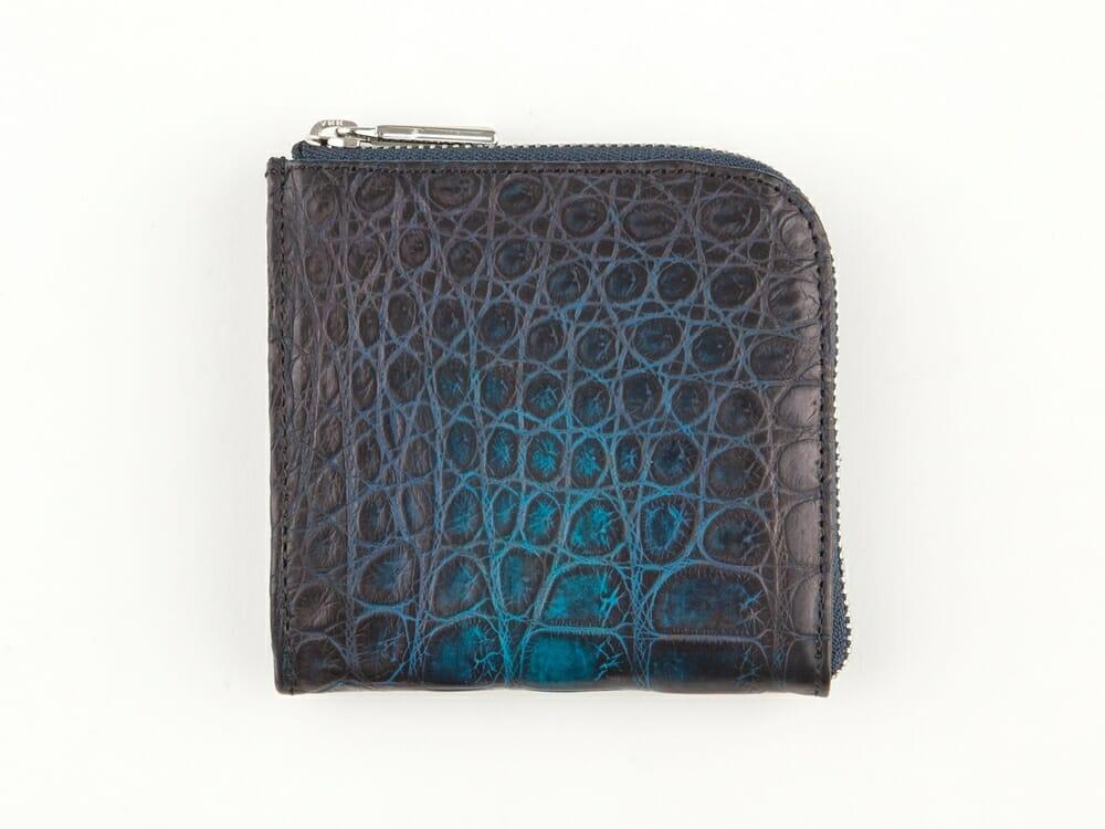 KAWAGEININ ナイルクロコダイル 手染めL字ハーフウォレット 財布本体 Mens Leather Store メンズレザーストア