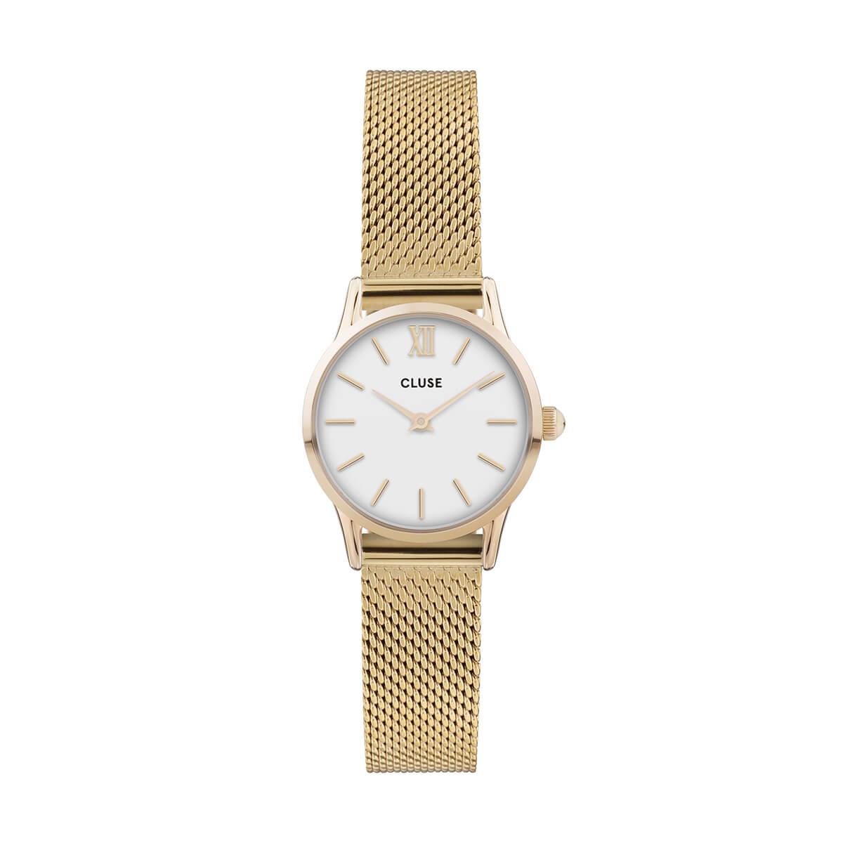 朝比奈彩 着用 24mm - CW0101206001 ラ・ヴェデット メッシュ ゴールド ホワイト ゴールド CLUSE クルース 腕時計
