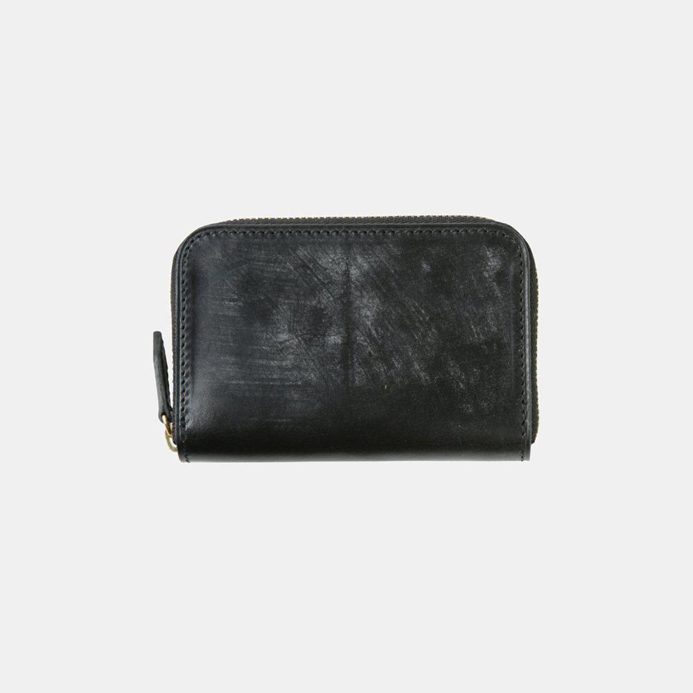 BRIDLE LEATHER 製ブライドルレザー ファスナー小銭入れ(ブラック)crafsto(クラフスト)
