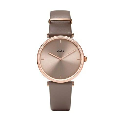 トリオンフ レザー ローズゴールド ソフトトープ ソフトトープ 33mm - CW0101208010 CLUSE クルース レディース腕時計