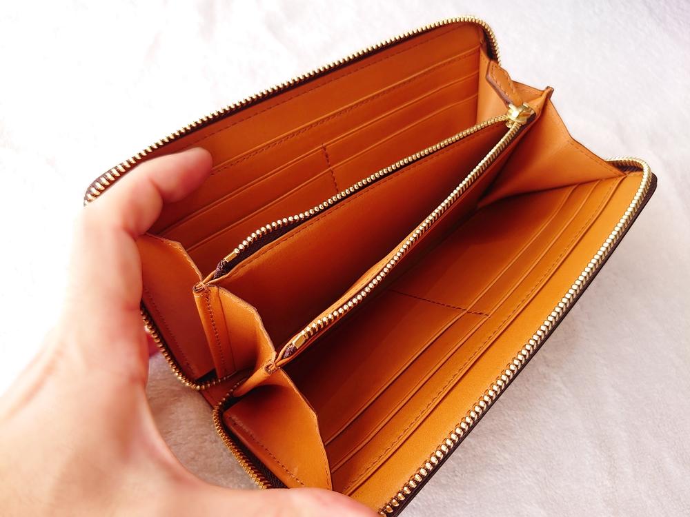 crafsto(クラフスト)ブライドルレザー「ラウンドファスナー長財布」ダークブラウン ファスナー&マチ付き 小銭入れ