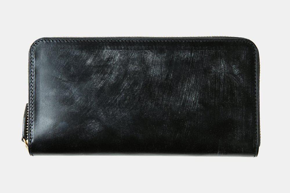 ブライドルレザー ラウンドファスナー長財布 crafsto(クラフスト)外装 ブラック
