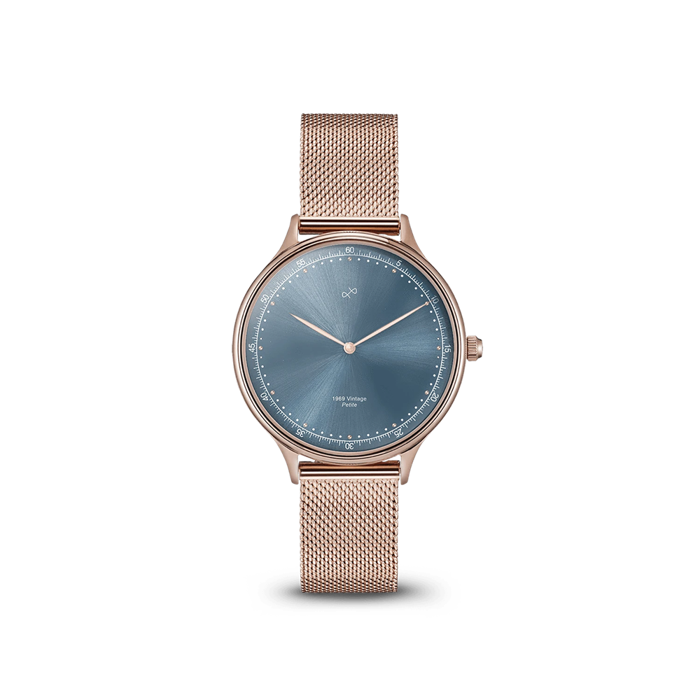 1969 PETITE ROSE GOLD BLUE SUNRAY About Vintage(アバウトヴィンテージ)