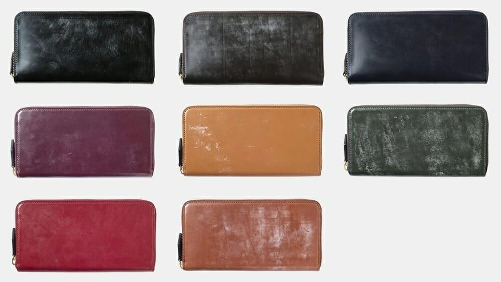 crafsto(クラフスト)ブライドルレザー ラウンドファスナー長財布 カラーバリエーション 8色