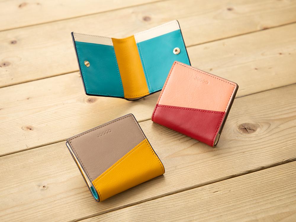 2つ折りエッジカラー財布(アシンメトリー) JOGGO ジョッゴ