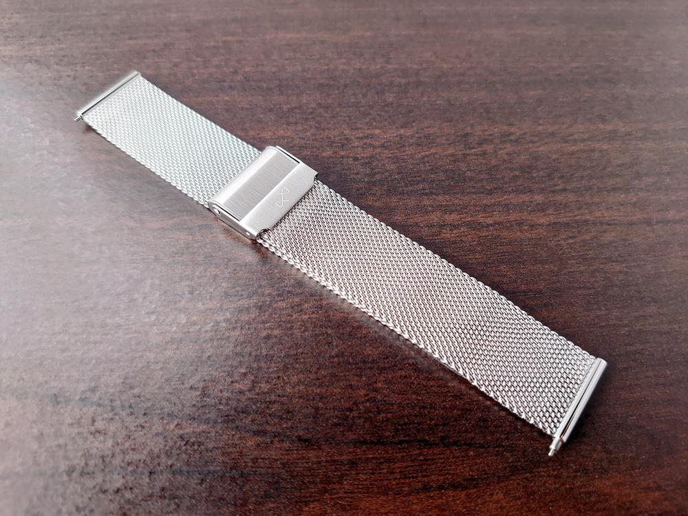 About Vintage(アバウトヴィンテージ)ステンレスメッシュベルト 20mm 光沢感