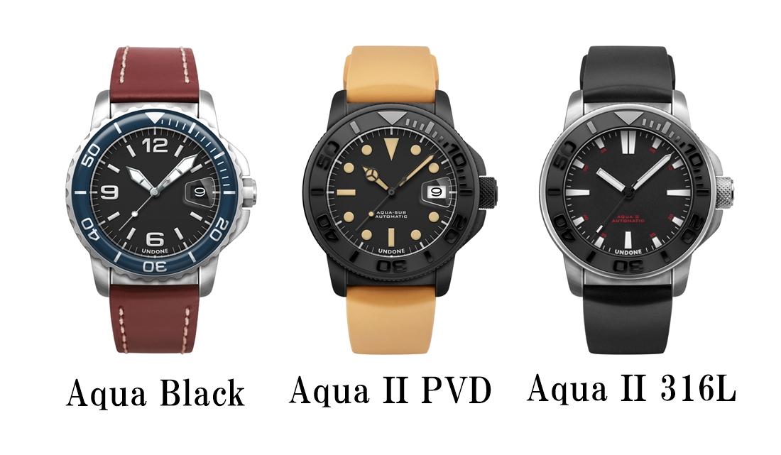 UNDONE アンダーン AQUAシリーズ アクアシリーズ BLACK PVD 316L