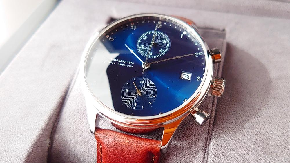 About Vintage(アバウトヴィンテージ)1815 CHRONOGRAPH(クロノグラフ)STEEL BLUE SUNRAYダイヤル