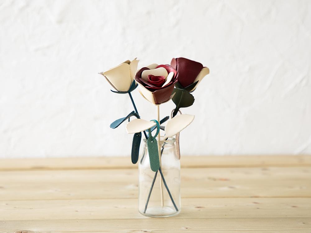 革の一輪花(バラ) JOGGO ジョッゴ