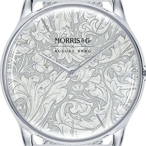 Morris & Co. Pure シルバー Bachelors Button シルバーメッシュ ダイアルデザイン August Berg(オーガストバーグ)