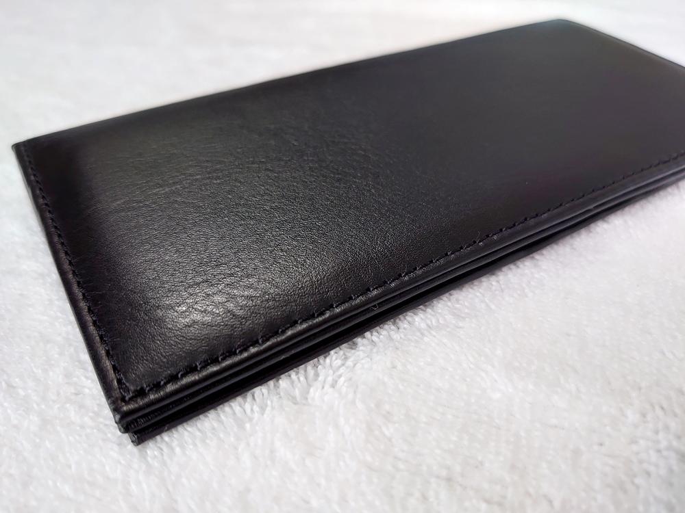 スリム長財布(カード収納13段)ブラック レビュー JOGGO(ジョッゴ)外側2