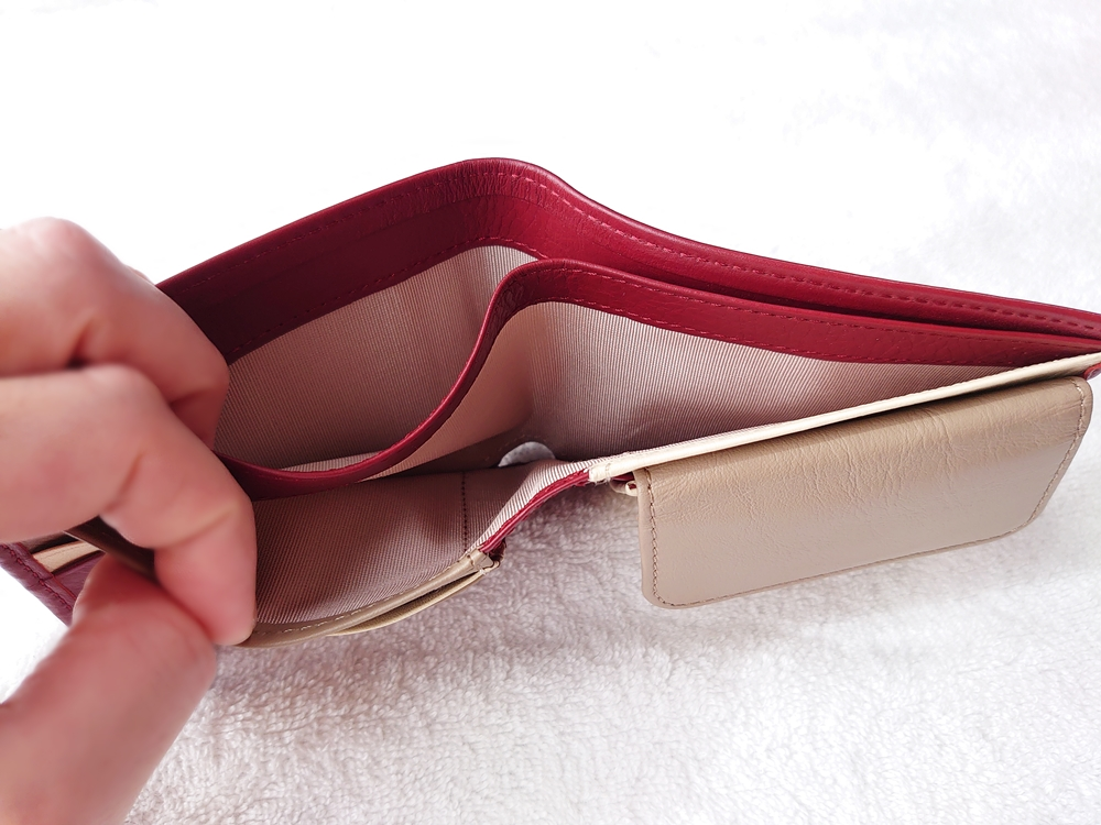 2つ折り財布(小銭入れ付き)ダークレッド レビュー JOGGO(ジョッゴ)札入れ