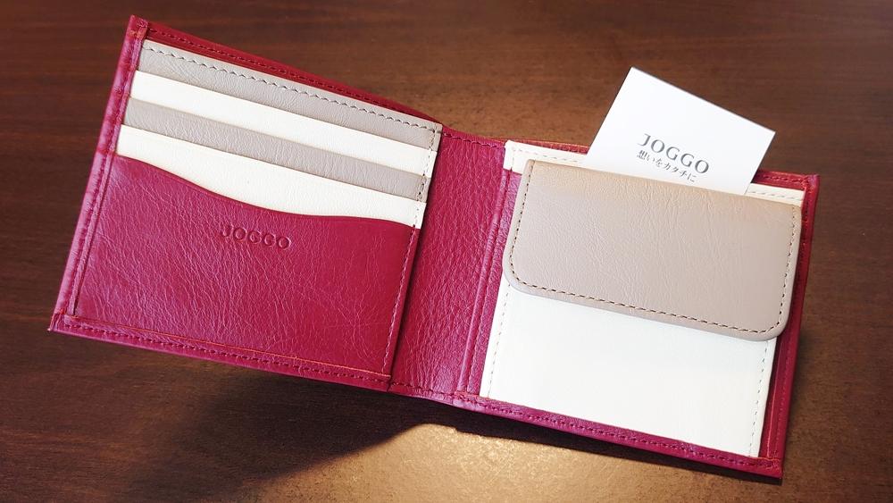 2つ折り財布(小銭入れ付き)ダークレッド レビュー JOGGO(ジョッゴ)