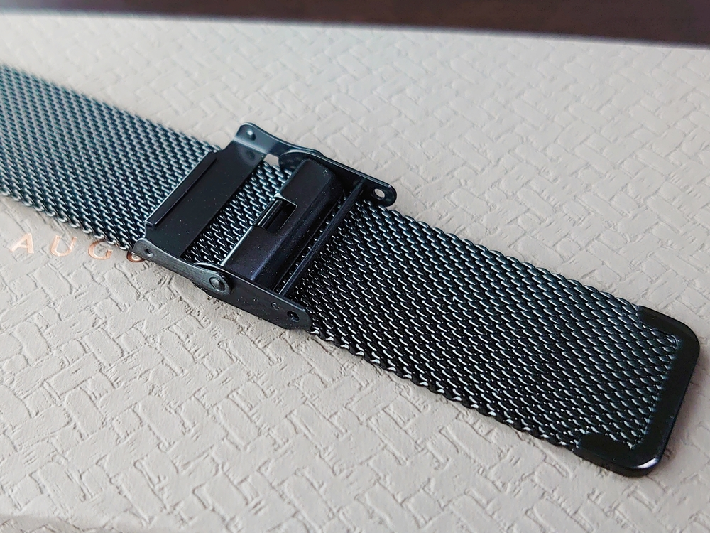 SERENITY(セレニティ)Noir Black(ノワール ブラック)40mm ブラックメッシュ ミラネーゼメッシュ 質感 ロック機構August Berg(オーガスト・バーグ)
