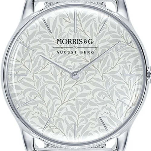 Morris & Co. Pure シルバー Willow Boughs シルバーメッシュ ダイアルデザイン August Berg(オーガストバーグ)