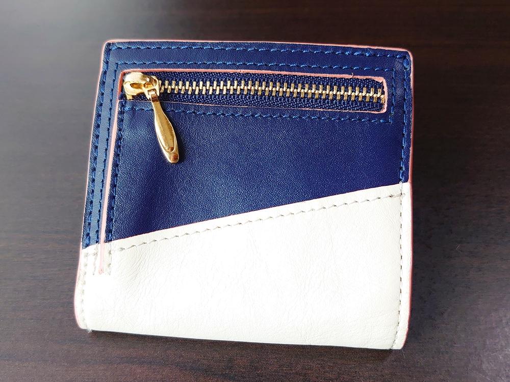 2つ折りエッジカラー財布(アシンメトリー)レビュー JOGGO(ジョッゴ)外側 裏 小銭入れ