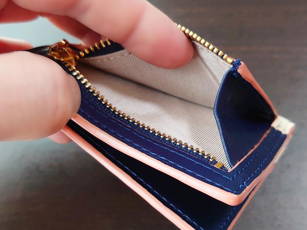 2つ折りエッジカラー財布(アシンメトリー)レビュー JOGGO(ジョッゴ) 片マチの小銭入れ