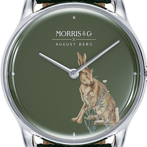 Morris & Co. Crimson シルバー Forest Hare グリーンペルロン ダイアルデザイン August Berg(オーガストバーグ)