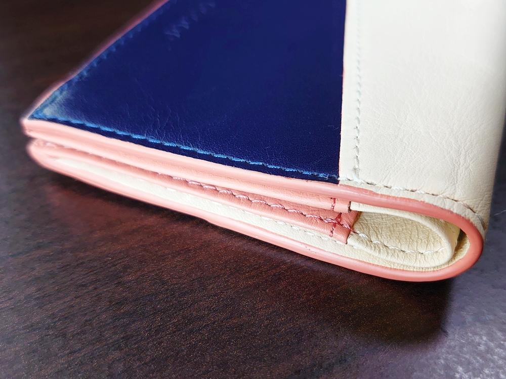 2つ折りエッジカラー財布(アシンメトリー)レビュー JOGGO(ジョッゴ)コバ