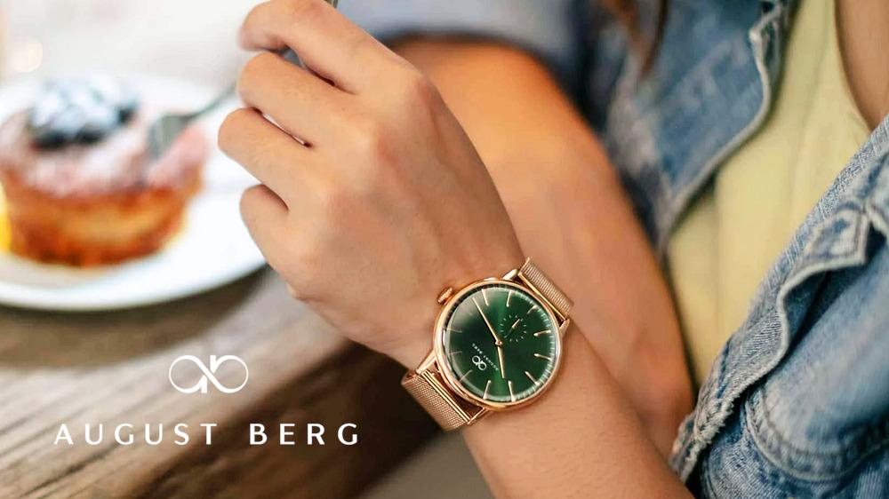 Serenity シンプリローズゴールド|ローズゴールドメッシュ 32mm August Berg(オーガスト・バーグ).pngグリーンヒルローズゴールド|ローズゴールドメッシュ 40mm 女性 August Berg(オーガスト・バーグ)