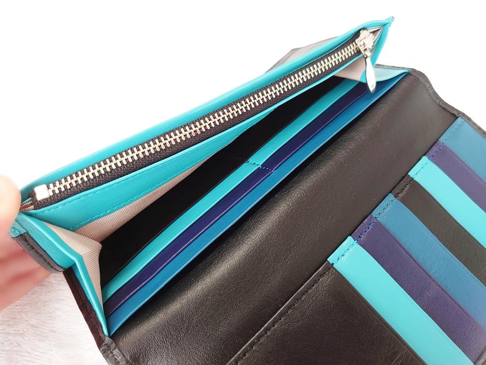 スリム長財布(カード収納13段)ブラック レビュー ファスナー付き小銭入れ YKK製 JOGGO(ジョッゴ)