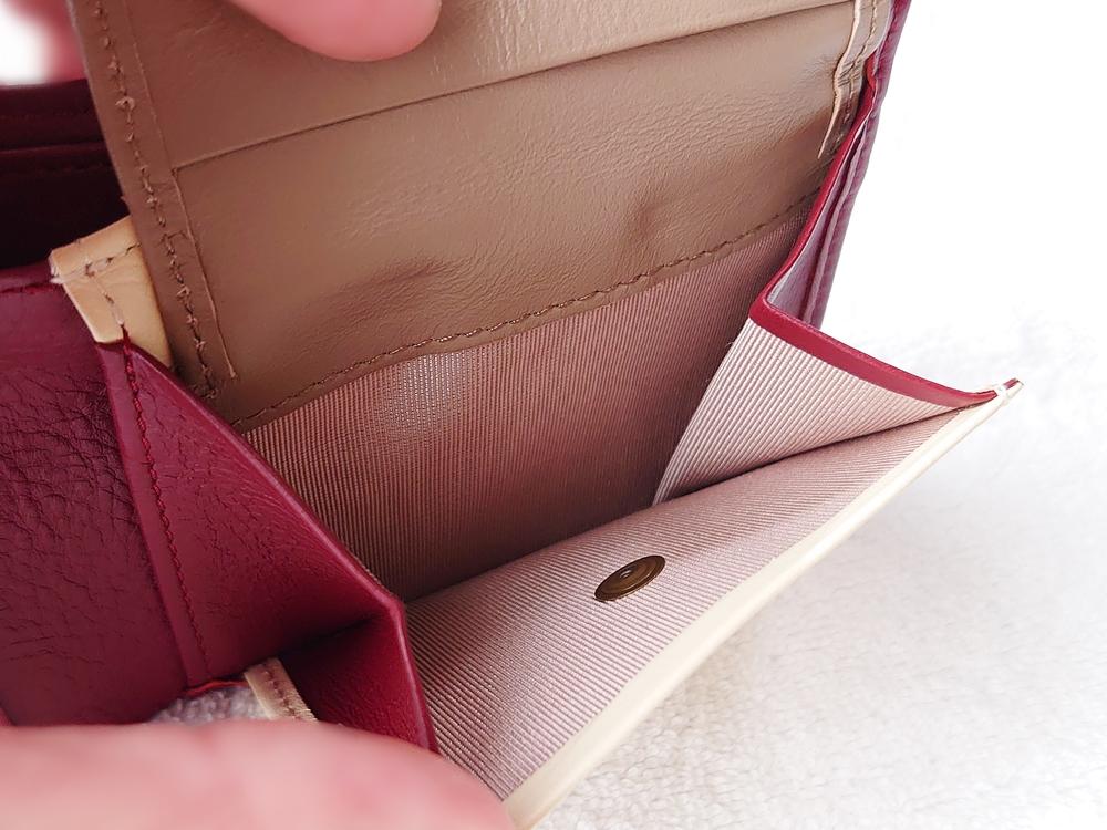 2つ折り財布(小銭入れ付き)ダークレッド レビュー JOGGO(ジョッゴ)小銭入れ マチ付き