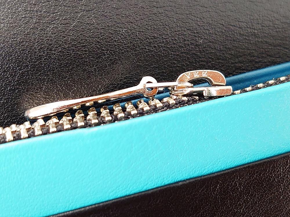 スリム長財布(カード収納13段)ブラック レビュー ファスナー付き小銭入れ YKK製ファスナー JOGGO(ジョッゴ)