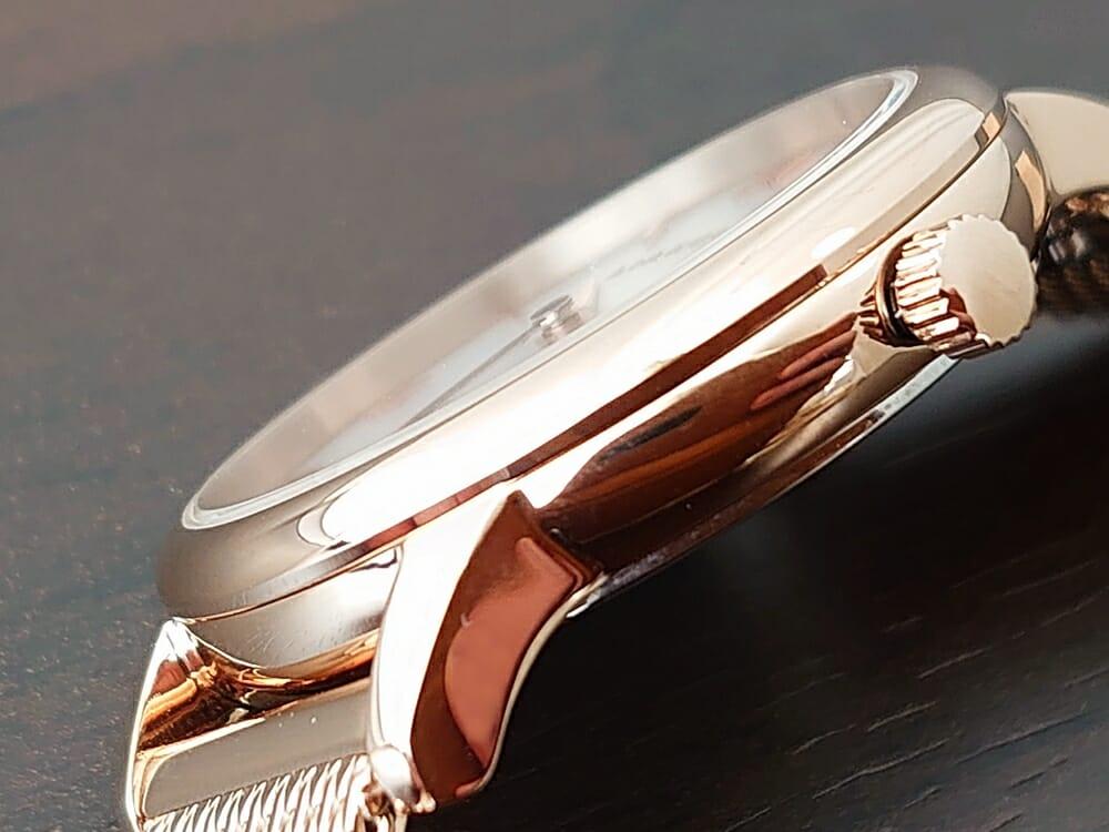 Luana(ルアナ)P08L 32mm ピンクゴールド メッシュストラップ LIAKULEA(リアクレア)フラットなサファイヤガラス 1